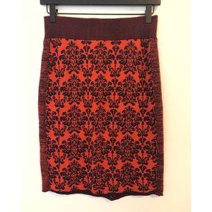 Anthropologie Moth Knitted Pencil Skirt